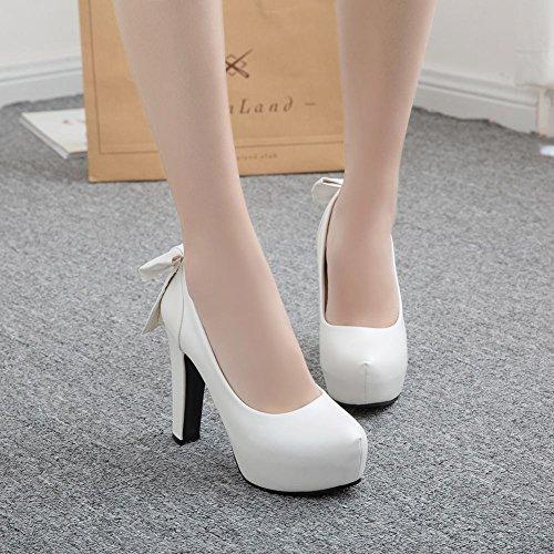 Sexy Mee zapatos tacón de arco corte plataforma alto blanco Shoes O7w7rxZ5