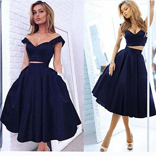 ... Blue Short 2 Piece Homecoming Dresses 2018 Cocktail Dress 8th Grade  Prom Dresses Modern Simple Style Vestido De Festa Curto Navy-US8.    0b0243a5ae39