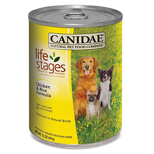 CANIDAE All Life Stages Dog Wet Food Chicken & Rice Formula, 13 oz (12-pack)