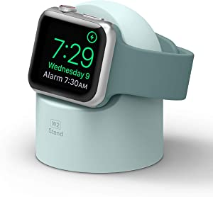 elago W2 Apple Watch Charger Stand Compatible with Apple Watch Series 6/SE/5/4/3/2/1 (44mm, 42mm, 40mm, 38mm) (Mint)