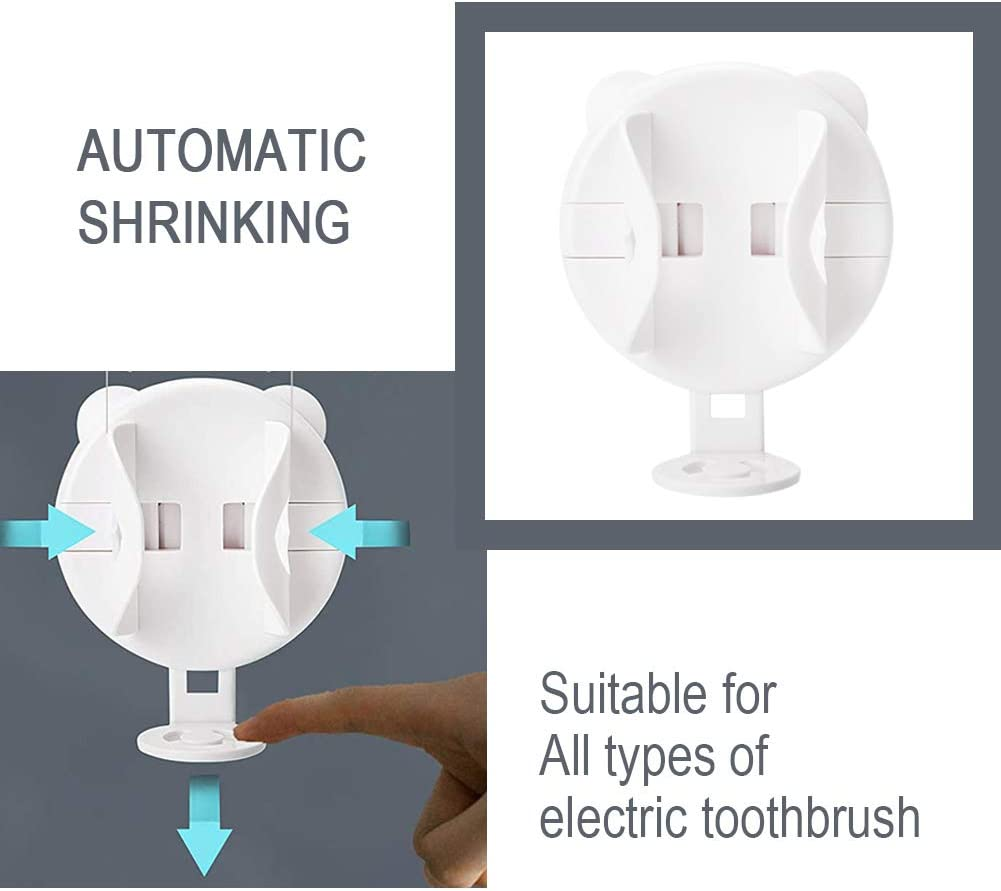 AYAITEE Gravitational Electric Toothbrush Holder 2 Pack,Wall Mounted Auto Lock /& Release Toothbrushes Stander for Bathroom Organizer Compatible with Philips Sonicare Oral B Electric Toothbrush