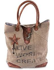 Live Work Create Tote Bag by Mona B