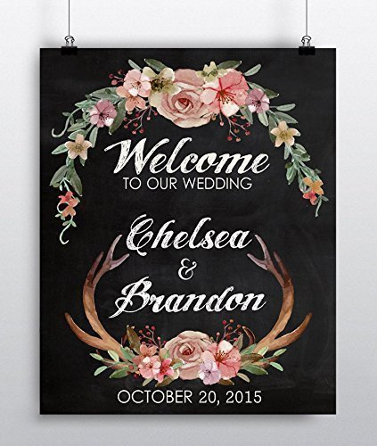 Amazon personalized wedding sign wedding reception decor personalized wedding sign wedding reception decor rustic themed wedding decor junglespirit Gallery