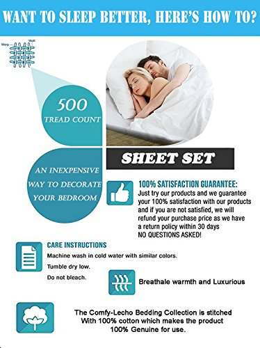"""LUXURIOUS AND PREMIUM BEDDING COLLECTION! 100% Egyptian Cotton Made in USA Italian Finish Sheet Set,800 TC Ultra-Soft ECO-FRIENDLY And Durable 4 Pc Bedsheet set With 19"""" Deep Pocket(King-Gold) by Comfy-Lecho (Image #6)"""