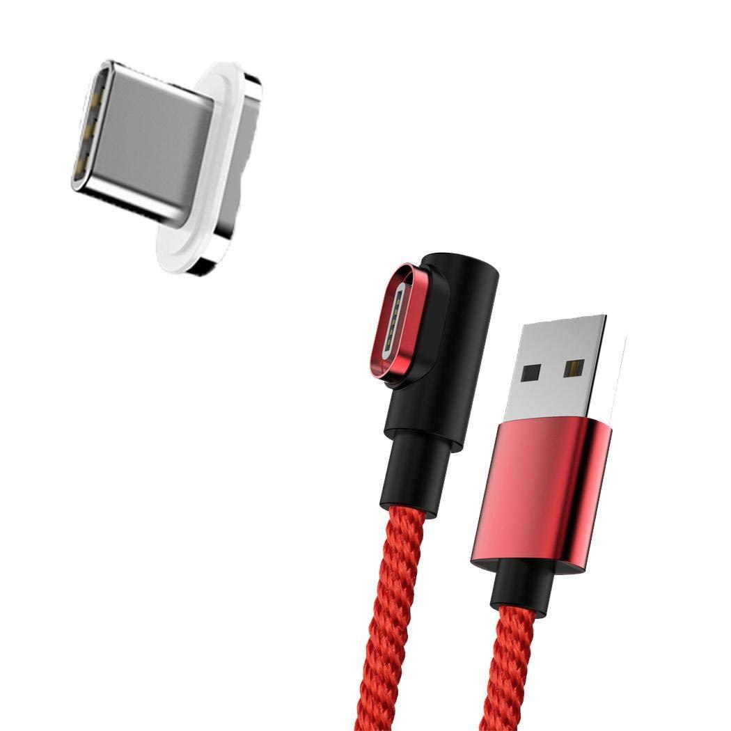 Oldhorse Cable de Carga magn/ético de 90 Grados de Tipo Micro USB para Android Cables