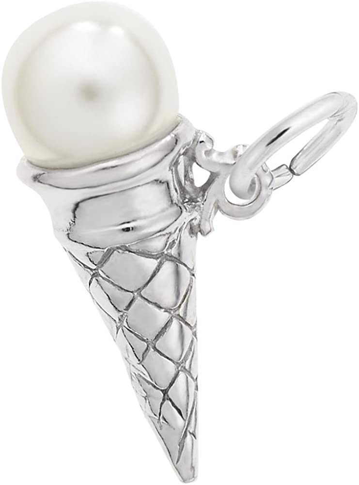 Ice Cream Cone sterling silver charm .925 x 1 Cornets and Ices charms SSLP1764