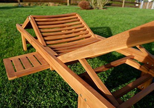 Hochwertige TEAK Sonnenliege Gartenliege Strandliege Liegestuhl ...