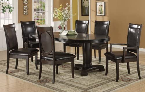 Oval Dining Table Double Pedestal Base Transitional