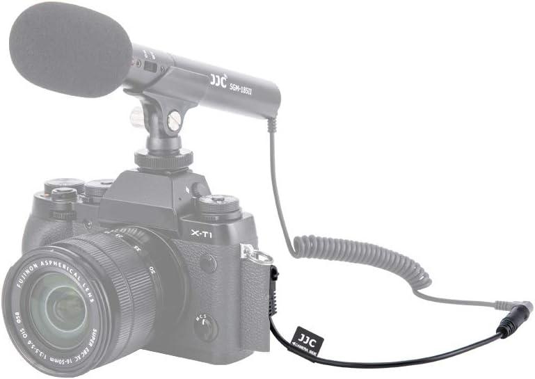 JJC 3.5mm Female Mic Jack to 2.5mm Male Mic Jack Microphone Cable Adapter for Fuji Fujifilm X-T30 X-T20 X-T10 X-PRO3 X-T100 X100V X100F X100T X-PRO2 X-T1 X-E3 X-E2S X-E2 X-E1 XF10 Camera
