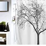 PHACA Tree Bath Perfect Fabric Shower Curtain with 12 Hooks