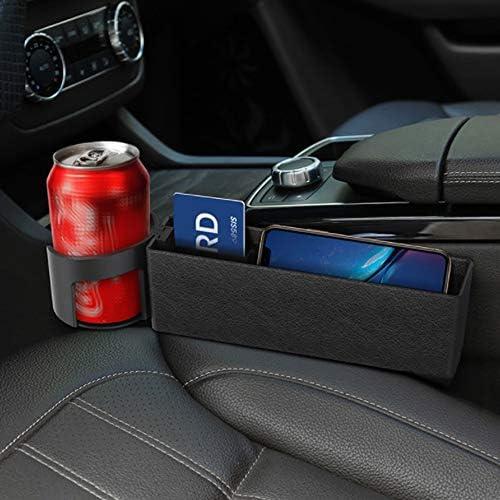 f/ür Multifunktionale Schlitze starnearby Multifunktionale Aufbewahrungsbox f/ür Auto autositz Ablagefach PU Leder Autositz Seitentaschen Organizer Aufbewahrungs Schlitz Box f/ür Auto Sitze