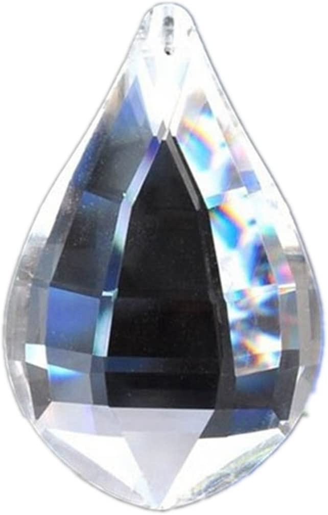 """FACETED CRYSTAL SPHERE 1.25/"""" 30mm Clear Feng Shui Rainbow Sun Catcher Prism Ball"""