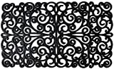 Silk Route Ceylon Majestic Contemprory Design Rectangular Indoor/Outdoor Rubber Doormat, 30 inch by 18 inch