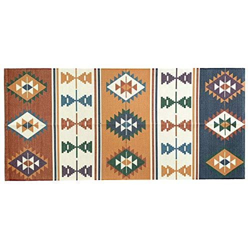 - Ukeler Cotton Braided Kilim Rug Hand Woven Colorful Printed Area Rugs Farmhouse Door Mat Accent Throw Rug Runner for Kitchen Laundry Room Bedroom, 23.6''×51.2''
