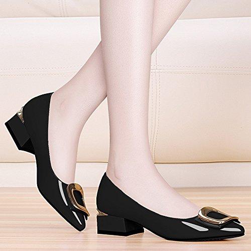 pie de Summer in 3 HAIZHEN Color Tamaño del Zapatos 0 CN39 Zapatos mujeres UK6 Punta mujer boda Negro mujer 99 Punta cm de zapatos Para EU39 Spring plana Pink de Comfort 501x1Taq