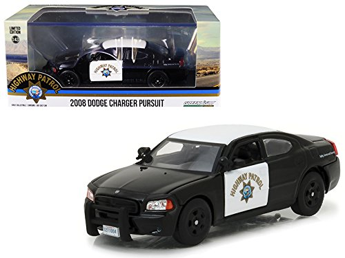 2008 Dodge Charger Police Interceptor Car California Highway Patrol (CHP) 1/43 Diecast Model Car Greenlight 86087