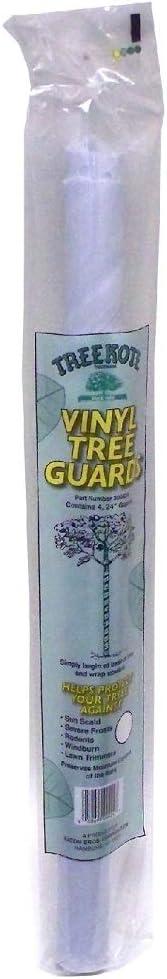 Walter E Clark Vinyl Tree Guard 00424, White, 24