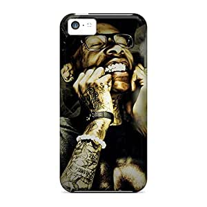 KennethKaczmarek Iphone 5c Anti-Scratch Hard Phone Cases Provide Private Custom Vivid Wiz Khalifa Pattern [NIj10685qlDW]