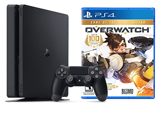 Playstation Slim 1Tb Console   Overwatch  Goty Edition  Bundle   2   Item