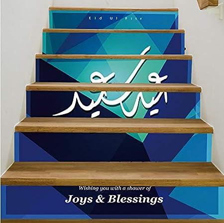 tonywu Escalera Decorativa Mubarak Decoración 3D Escaleras Pegatinas Casa Decorativa Escalera Tatuajes de Pared Pasta de PVC Pegatinas de Pared A Prueba de Agua: Amazon.es: Hogar