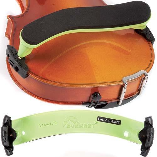 Everest ES2G ES Series 3/4-1/2 Violin Adjustable Shoulder Rest - Neon Green by EVEREST