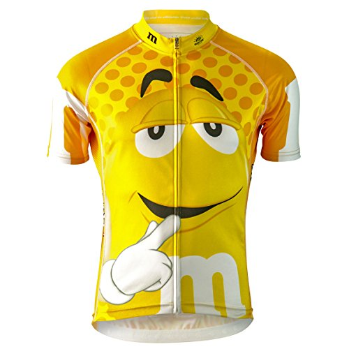 M&Ms Yellow Officially Licensed Cycling Jersey (Women's) (Large)