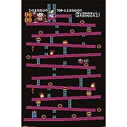 "Donkey Kong - Retro Nintendo Gaming Poster (Classic Donkey Kong / NES) (Size: 24"" x 36"")"