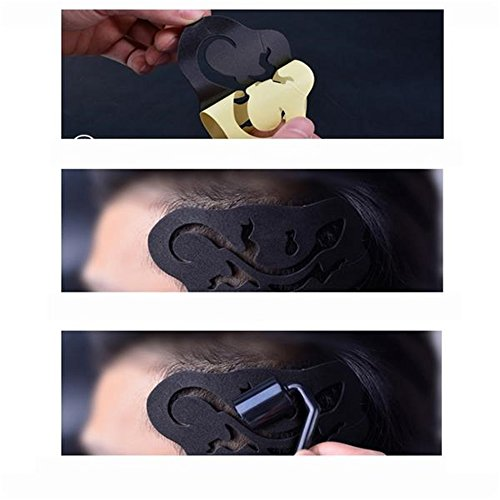 25 Pieces Clippers Tattoo Trimmer Fashion Hair Tattoo Template Carving Trimmer Tattoo Hair Clipper Accessories Hair Dye Accessories by hair Tattoo (Image #3)