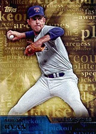 Amazon com: 2015 Topps Archetypes Baseball Card #A-14 Nolan Ryan