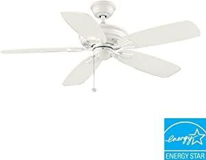 Hampton Bay Heirloom 52 in. Indoor/Outdoor White Matte Ceiling Fan