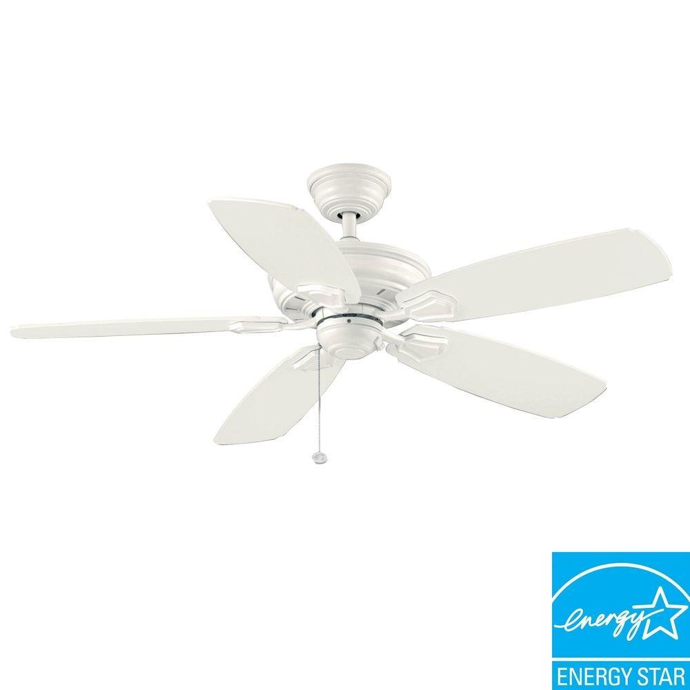 Hampton Bay Heirloom 52 In Indoor Outdoor White Matte Ceiling Fan Com