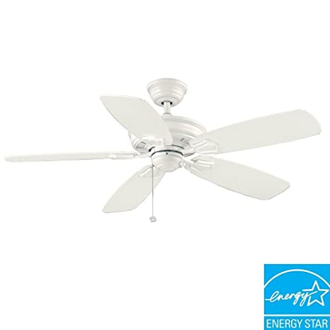 Hampton Bay Heirloom 52 In Indoor Outdoor White Matte Ceiling Fan