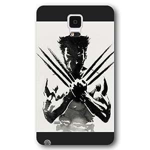 UniqueBox Customized Marvel Series Case for Samsung Galaxy Note 4, Marvel Comic Hero X-Men Wolverine Logan Samsung Galaxy Note 4 Case, Only Fit for Samsung Galaxy Note 4 (Black Frosted Case)