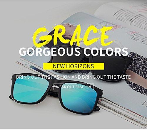 80 Retro negro Negro UV400 Unisexo De Gafas para conducir Clásico Sol gafas Polarizado sol Años de 0TYAFY
