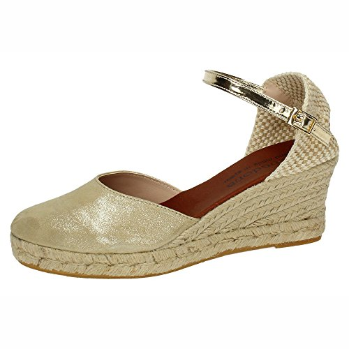 Made In Spain V18KING, Damen Espadrilles Beige