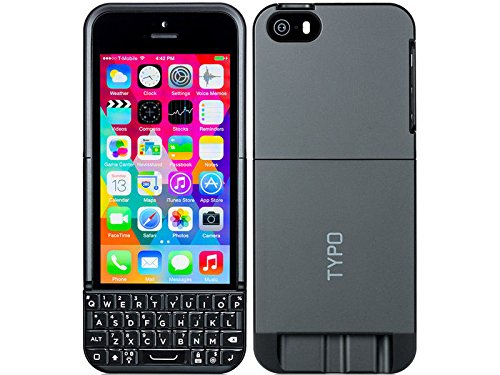 new product 4ee91 d046c Typo 2 Keyboard Case for iPhone 5S and 5 (New Updated Model): Amazon ...