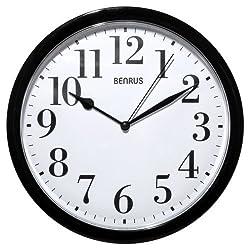 Decorative Wall Clock Black and White