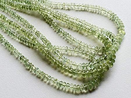 MC426A Prehnite Faceted Rondelle Beads Good Quality Prehnite Rondelle Beads 9 Inch Strand 8-8.50 mm