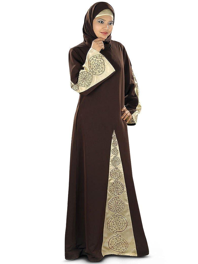 MyBatua Frauen Samah Abaya mit Satin Detail AY293