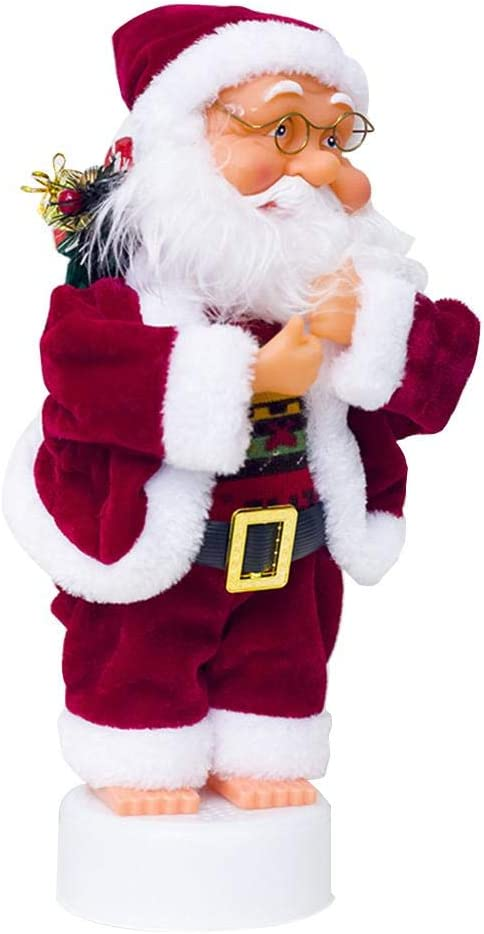 Blentude Electric Santa Claus Musical Pants Unbuttoning Funny Santa Claus Toy Decorations Christmas Creative Decorations