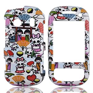 Talon Phone Case for Samsung M350 Seek - Kawaii Baby Skull - Sprint and Boost Mobile - 1 Pack - Case - Retail Packaging - White, Blue, and Pink