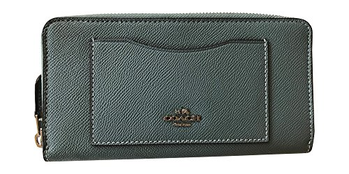 Coach Crossgrain Leather Accordian Zip Wallet, Leaf 2 by Coach