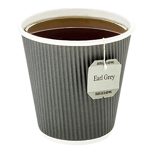 500-CT Disposable Gray 8-OZ Hot Beverage Cups with Ripple Wall Design: No Need for Sleeves  Perfect for Cafes  Eco-Friendly Recyclable Paper  Insulated  Wholesale Takeout Coffee Cup