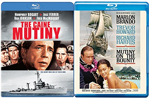 The Caine Mutiny & Mutiny on the Bounty Blu Ray War 2 Pack Military Movie Action Double Feature Brando/Bogart Set
