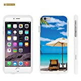 iPhone 6 Plus Case, Spots8® Hard Plastic Slim Fit [Beach Vacation] Case Covers Compatible with iPhone 6 Plus