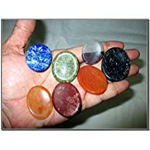 Fantastic Chakra Gemstone Worry Stone Set Palm Stone Thumb Stone Crystal Therapy Geometry Platonic Solid Sacred Air Water Earth Fire Hexagon Tetrahedron Hexahedron Icosahedron Square Octahedron Pentagon Star Merkaba Amethyst Lapis Lazuli Green Aventurine Red Jasper Yellow Aventurine Quartz Crystal Healing Chakra Balancing Unique Rare Energy Love Divine Spiritual Psychic Arch Angel Christmas Gift India Gemstone Original Authentic Genuine Crystals Stress Free Relaxation Concentration Business Success Meditation Positive Power Peace Prosperity Health Wealth Family Bonding Relationship
