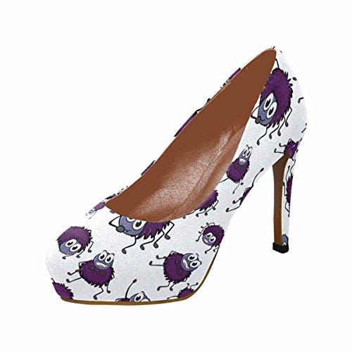 Zapatos De Plataforma De Tacón Alto De La Moda Clásica Para Mujeres Interesprint Funny Spiders