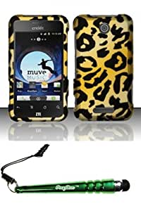 FoxyCase(TM) FREE stylus AND For ZTE Score M X500m (MetroPCS) Rubberized Design Case Cover Protector - Cheetah Desire Safe Phone cas couverture