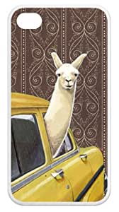 Taxi Llama iPhone 4s Hard Plastic Clip on Case