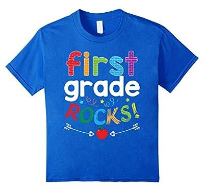 First Grade Rocks T-Shirt Funny 1st Grade Student & Teacher